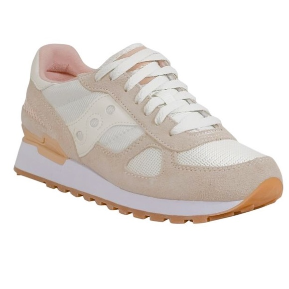 online store ce4a0 5e1bb NEW! Women's Saucony ivory Shadow trainers Boutique